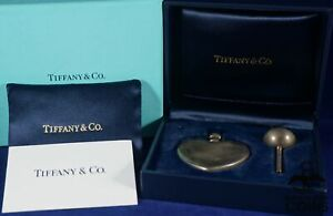 Tiffany Co Sterling Silver 925 Heart Shaped Perfume Bottle Funnel W Box