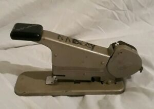 Vintage Old Bates Wire Spool Stapler Makes Its Own Staples Works