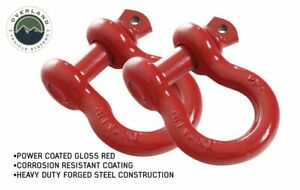 19010204 Recovery Shackle D Ring 3 4 4 75 Ton Red Sold In Pairs