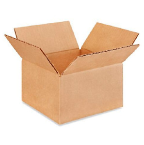 25 7x7x4 Cardboard Paper Boxes Mailing Packing Shipping Box Corrugated Carton