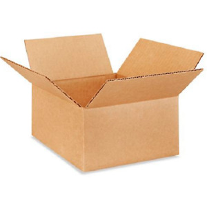 100 8x8x4 Cardboard Paper Boxes Mailing Packing Shipping Box Corrugated Carton