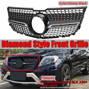 For Mercedes Benz Glk X204 Glk250 Glk350 2013 2015 Diamond Front Grille Grill