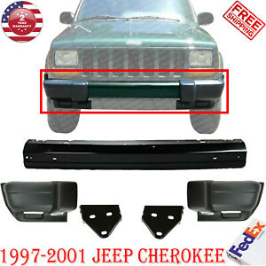 Front Bumper Bar Txt End Bracket For 1997 01 Jeep Cherokee