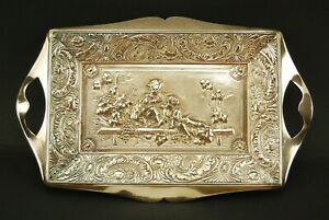 Antique Silverplate Decorative Tray By James W Tufts Boston 3151