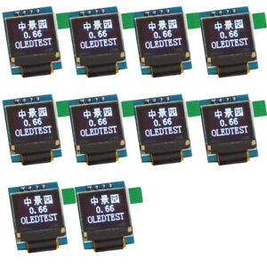 10pcs White 0 49 Inch Oled Display Module 64x32 Iic I2c For Arduino Avr Stm32