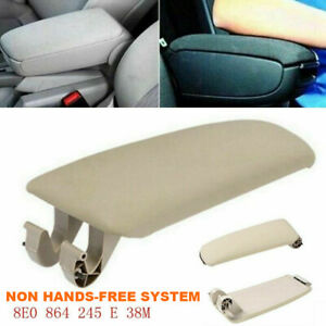 For 2004 2008 Audi A4 B7 Beige Leather Armrest Center Box Console Lid Cover Bg2