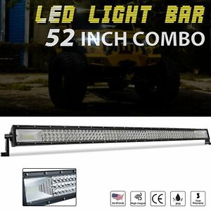 52inch 720w Led Work Light Bar Spot Combo Flood Driving Jeep Truck Suv 4wd 50