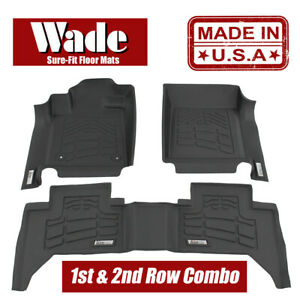 Wade Sure fit Floor Mats Combo Black Cadillac Escalade2007 2014