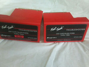 Lot Of 2 Snap On Fast Track Troubleshooter Gm Chrysl Ford Mt2500 Mtg2500 Scanner