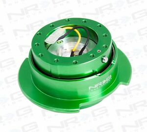 Nrg Steering Wheel Gen 2 5 Quick Release Kit green Body Green Ring