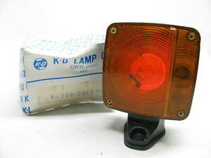Vintage Kd Lamps 764 2857 Double Faced Red Amber Fender Mount Turn Signal Light