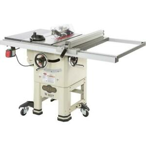 Shop Fox W1837 10 2 Hp Open stand Hybrid Table Saw With Enclosed Cabinet Bottom
