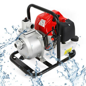 1 7hp 43cc Petrol 2 Stroke Water Transfer Pump High Flow Irrigation 8000l hour