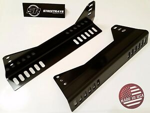 Streetrays Universal Low Side Mount Brackets Recaro Sparco Bucket Seat black