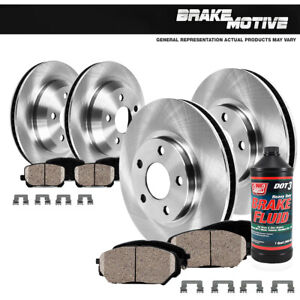 For 2003 2004 2005 Dodge Ram 1500 Front And Rear Brake Rotors Ceramic Pads