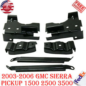 Front Bumper Bracket Set For 2003 2006 Gmc Sierra Pickup 1500 2500 3500
