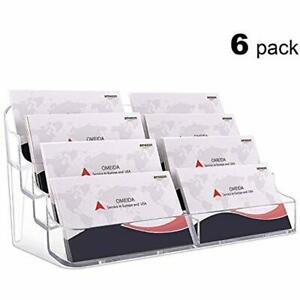Acrylic Business Card Holder For Desk Holders Stand Display Clear Display 8 6