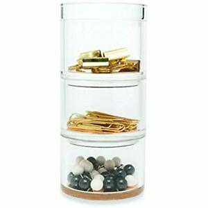 Acrylic Stackable Desk Organizer Set Strike Gold Office Products