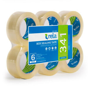Rela Box Sealing Tape Clear Packaging Tape 2 X 110 Yards 6 Rolls