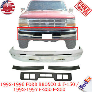 Front Bumper Chrome Bumper Molding For 92 96 Ford Bronco 92 97 Ford F 150 350