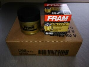 Six 6 Fram Ultra Synthetic Xg6607 Oil Filter Case Fits Mobil 1 M1 108a M1 108