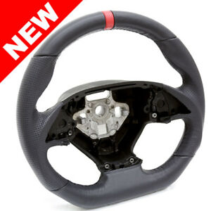 Handkraftd 2014 Corvette C7 D Shaped Steering Wheel Black W Black Stitch