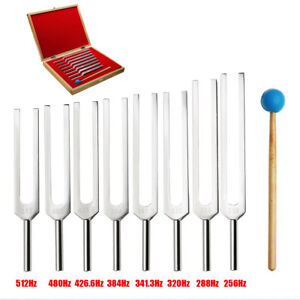 8 Tuning Fork Set Medical Surgical Physical Diagnostic Instruments With Wood Box