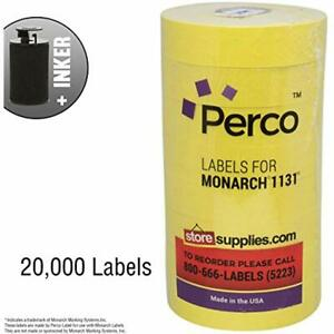 Yellow Pricing Labels For Monarch 1131 Price Gun 8 Rolls 20 000 Pricemarking