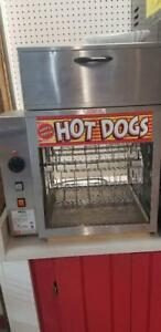 Apw Wyott Rotating Hot Dog Broiler With Bun Warmer Commercial dr 2a