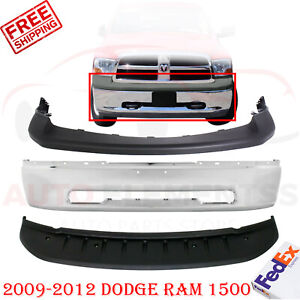 Front Bumper Chrome Up Textured Cover Valance For 2009 2012 Dodge Ram 1500