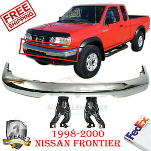 Front Bumper Chrome Steel Mounting Bracket For 1998 2000 Nissan Frontier