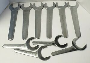 Set Of 10 Fairmount Hydraulic Service Pump Thin Open end Aviation Wrenches Usa