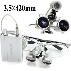 3 5x420mm Dental Loupe Surgical Binocular Magnifying Glasses With Led Head Light