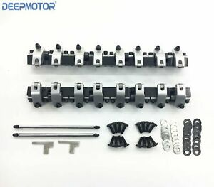 Deepmotor Ls3 L92 2024 T6 Aluminum 1 7 Ratio Shaft Mount Roller Rocker Arms Set
