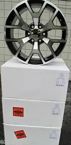 20 New Gmc Yukon Sierra Chevy Tahoe Factory Style Machined Black Wheels 5656