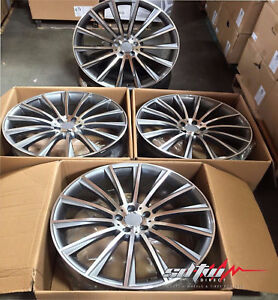 22x9 22x10 Wheels For Mercedes S550 S600 S63 Cl500 Cl600 Cl63 22 Inch Rims Set