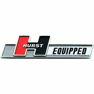 Hurst 1361000 Hurst Equipped Plastic Emblem Abs Plastic 3m Adhesive Backing