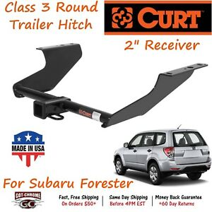 13147 Curt Class 3 Round Trailer Hitch With 2 Receiver Tube Subaru Forester