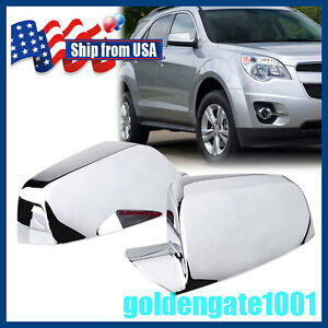 Us Pair Chrome Side Mirror Cover Tirms For Chevy Equinox Gmc Terrain 11 16 Gg