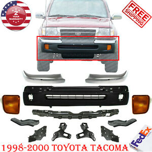 Front Bumper Textured W Ends Rebar Bracket Kit For 1998 2000 Tacoma 4wd 12pc