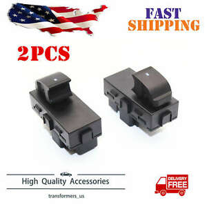 2x Power Window Switches Rear Driver Passenger L R Side Fit For Chevy Gmc New