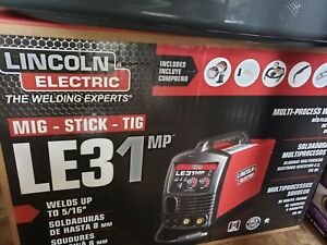 Lincoln Le31mp Multiprocess Welder Mig Tig Stick brand New
