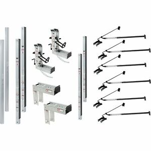Qual craft Aluminum Pump Jack Scaffolding System Starter Kit 36ft 3016