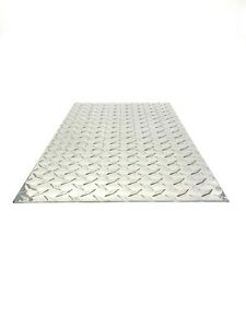 3003 Aluminum Diamond Tread Plate sheet 045 12 X 24 Checker Plate Durba