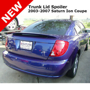 Saturn Ion Coupe 03 07 Trunk Rear Spoiler Painted Laser Blue Metallic Wa218m