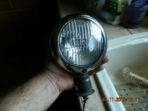 Vintage Hall Lamp Co Clear Fog Light 1940s 50s Ford Rat Rod Street Hot Rod Cool