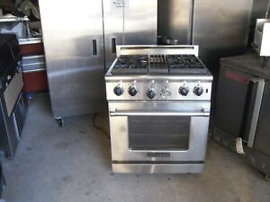 Used 30 American 4 Burner Gas Range Oven With Griddle Top Accessory Aar 3041