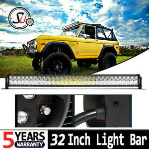 52inch Quad Row Led Work Light Bar Combo Truck Offroad 4wd Suv Boat Driving 50