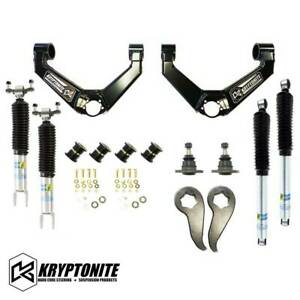 Kryptonite Stage 3 Leveling Kit Bilstein Shocks 11 19 Chevy Gmc 2500hd 3500hd