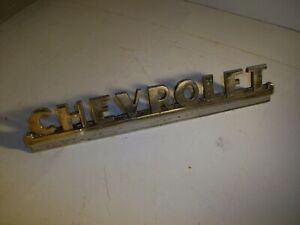 1947 1951 Chevy Truck Chrome Hood Side Emblem 1948 1949 1950 Oem 3692103